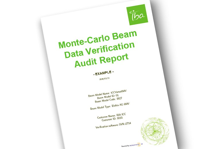 Example Report Beam Data Verification Audit Commissioning Linacs IBA Dosimetry