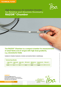 IBA Dosimetry Radiation Product Razor Chamber Flyer