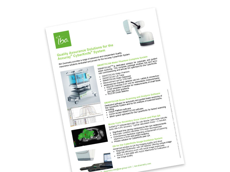 IBA Dosimetry Solutions for Cyberknife Flyer