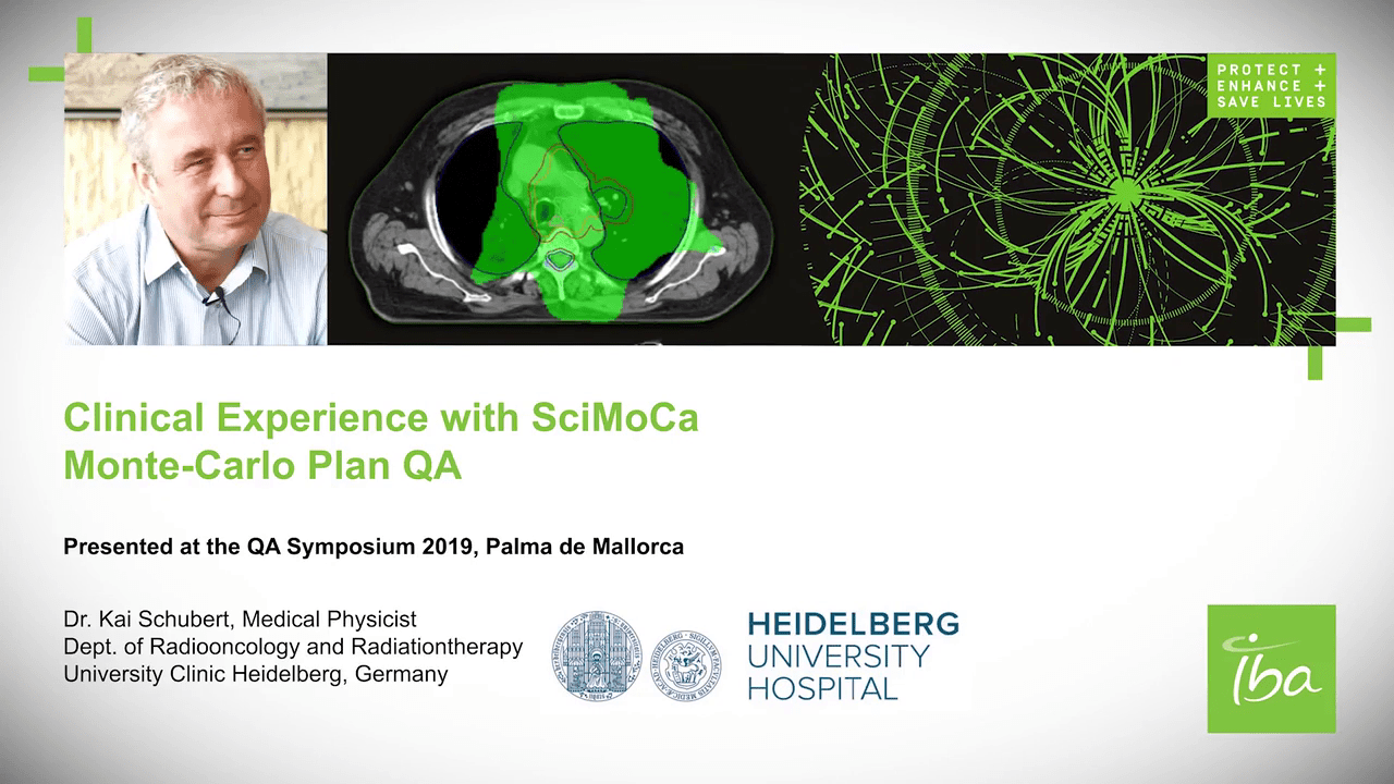 Webinar Presentation Dr. Kai Schubert, Medical Physicist SciMoCa Monte-Carlo Plan QA
