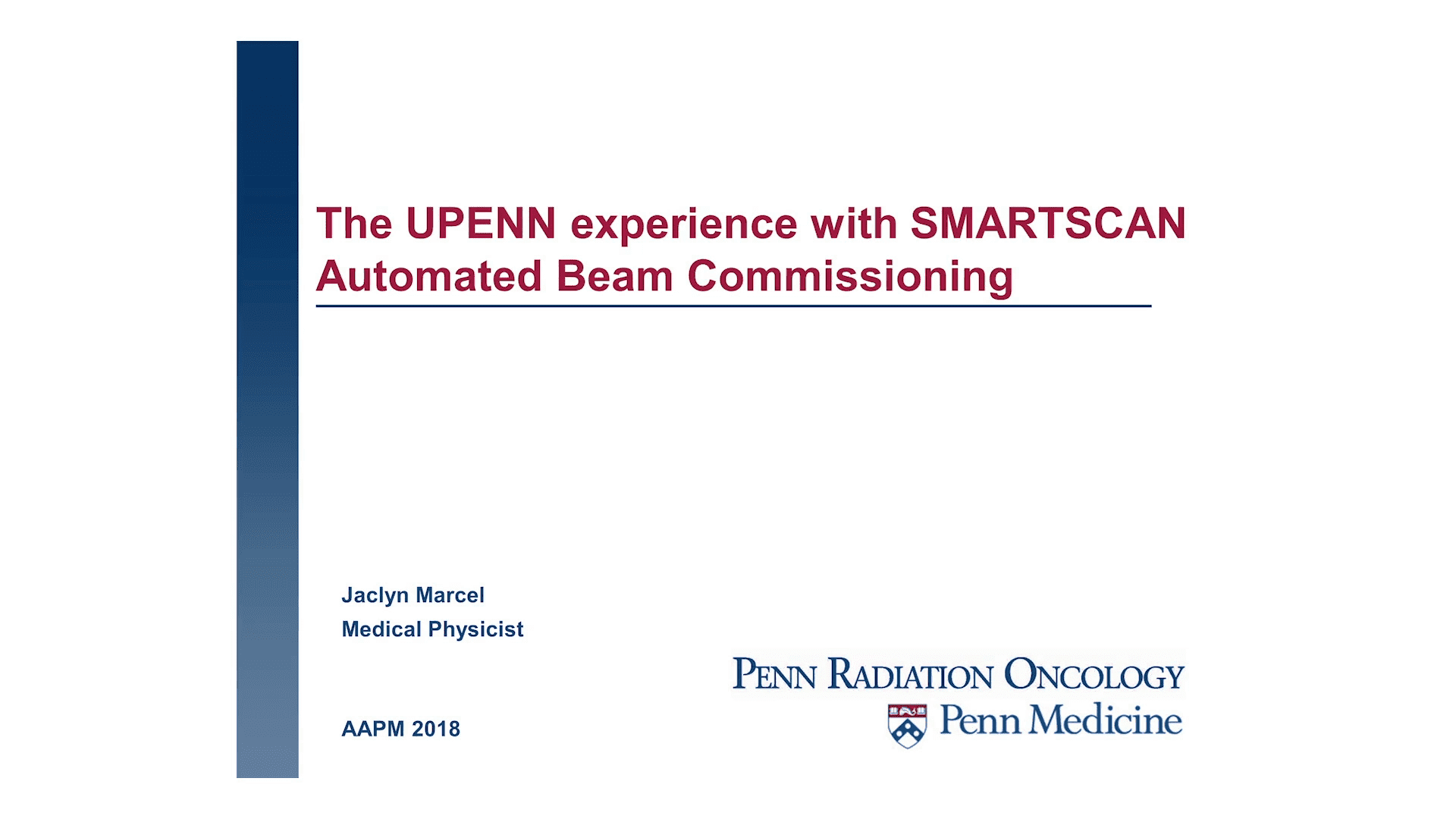 Presentation SMARTSCAN UPENN Experience